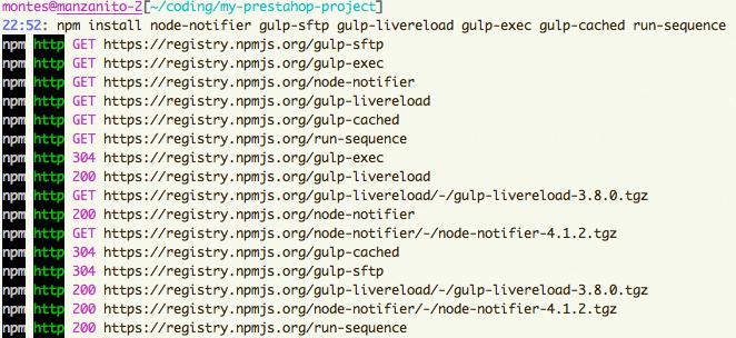 npm install gulp